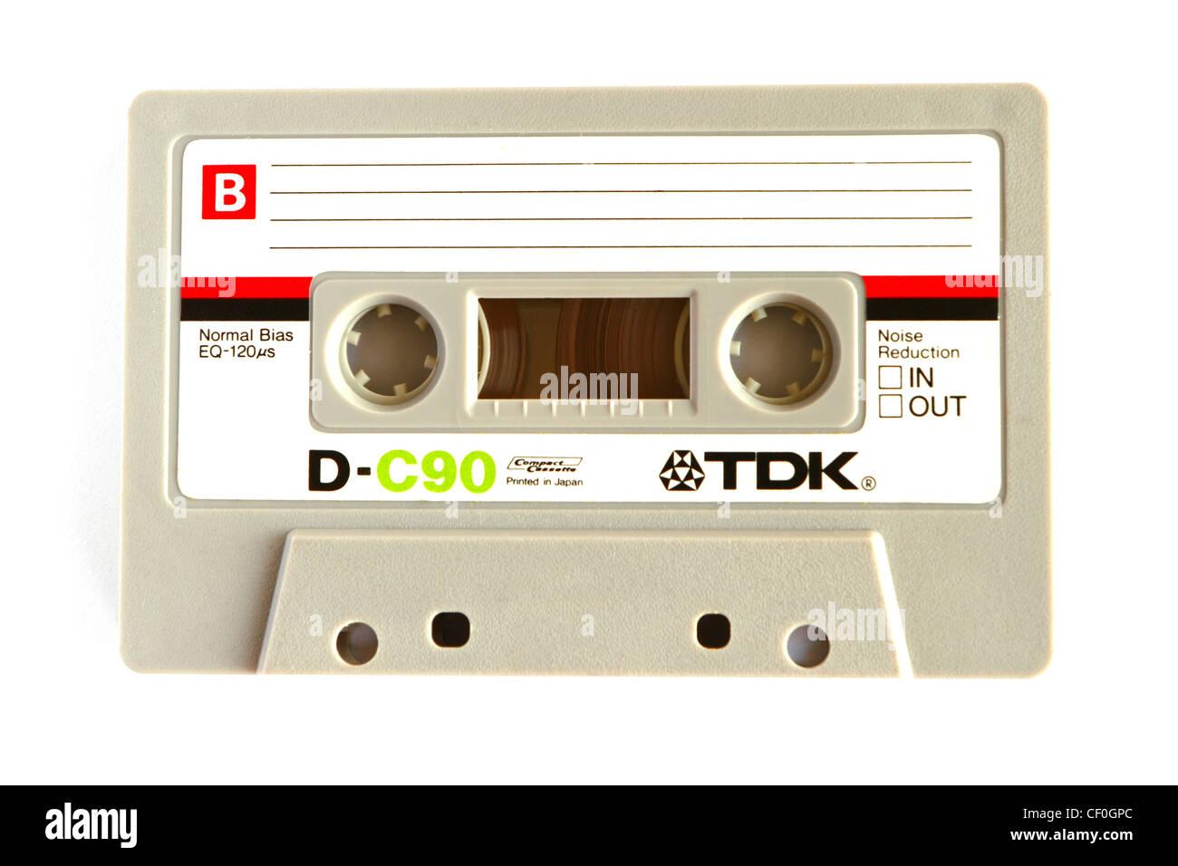 TDK C90 audio cassette tape - Stock Image