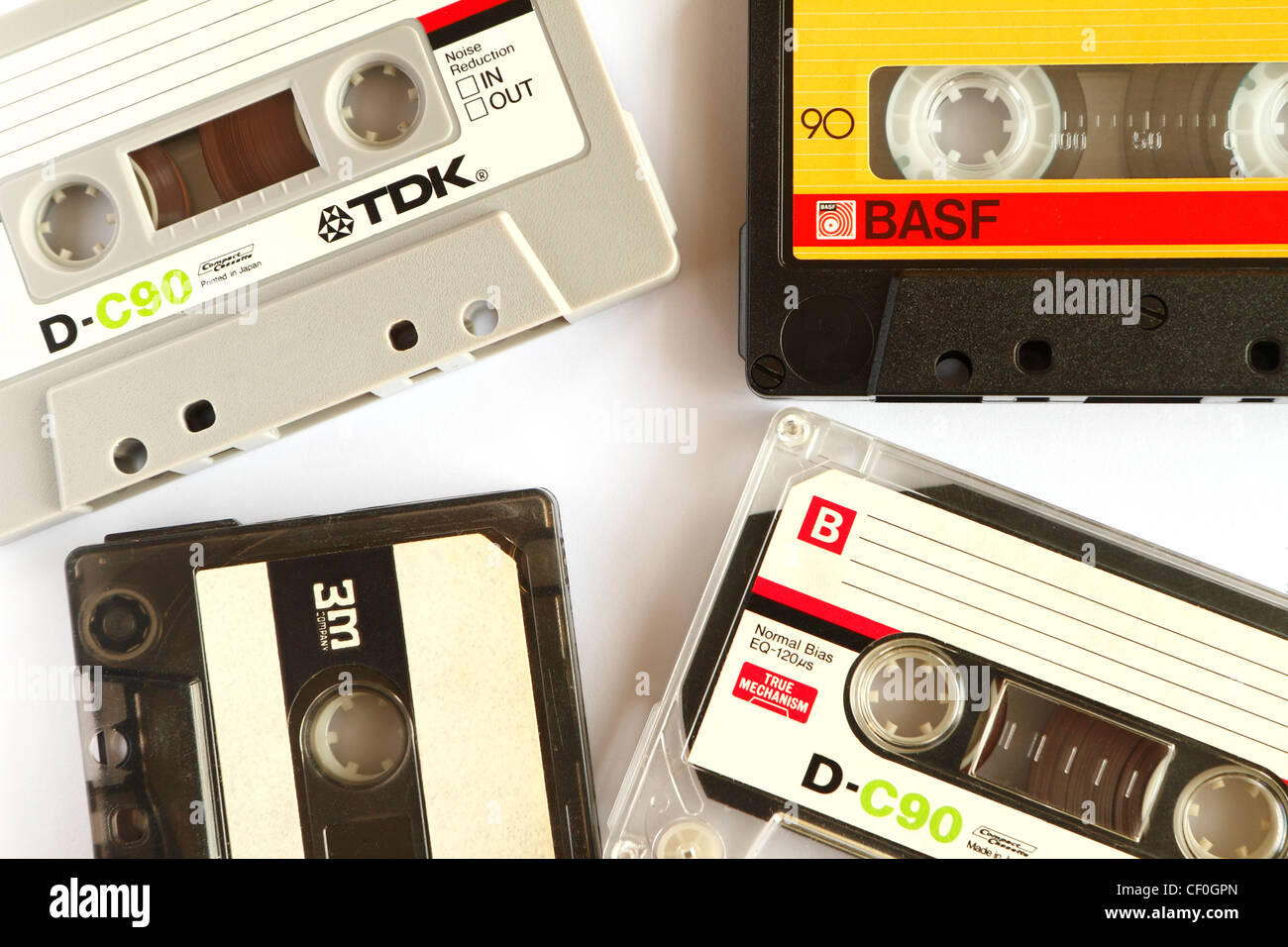 Audio cassette tapes Stock Photo