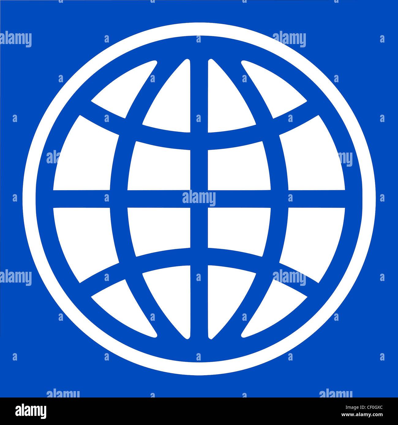 Logo of the World Bank based in Washington. - Stock Image