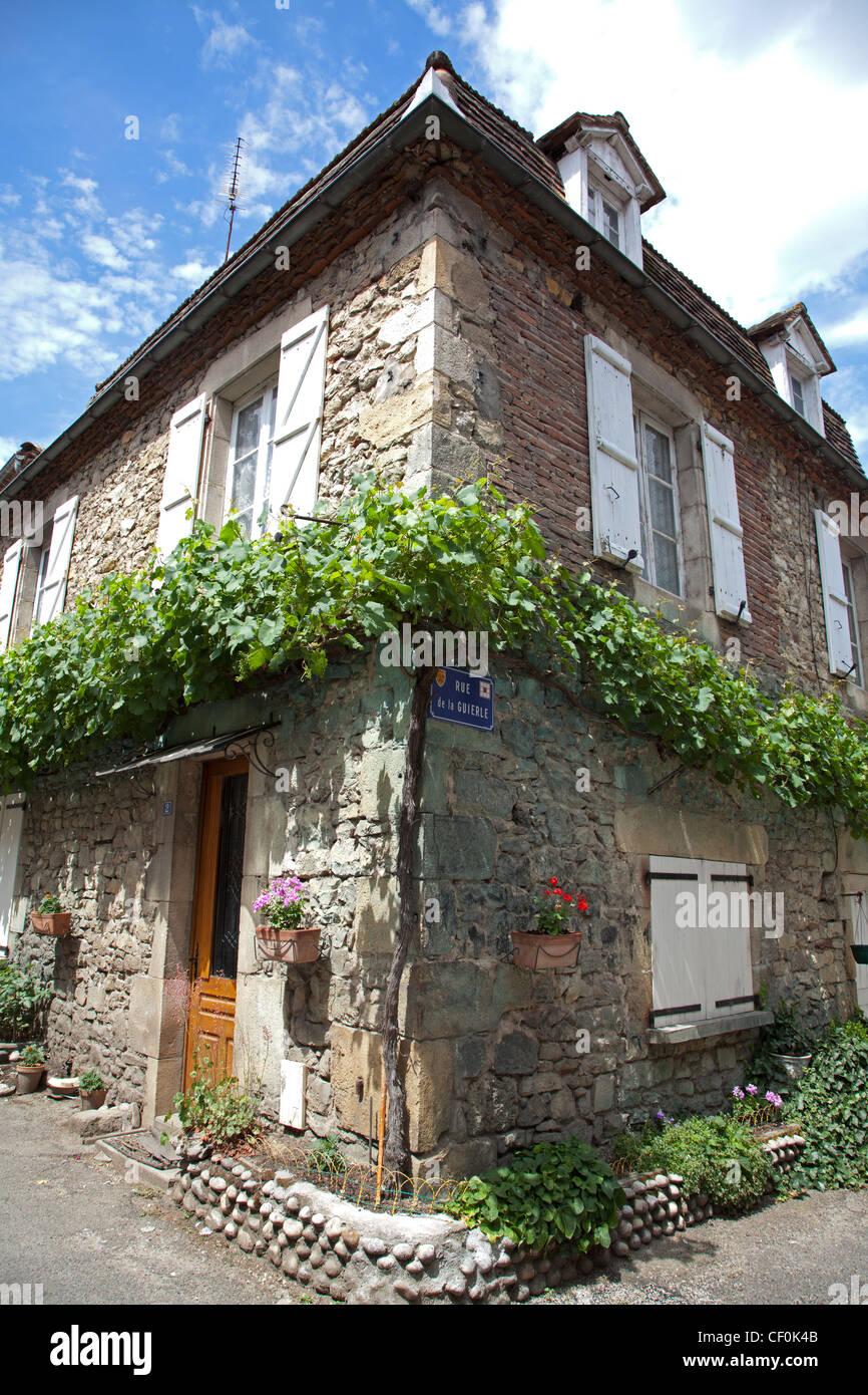 Corner of the Rue de la Guierle at Bretenoux Stock Photo