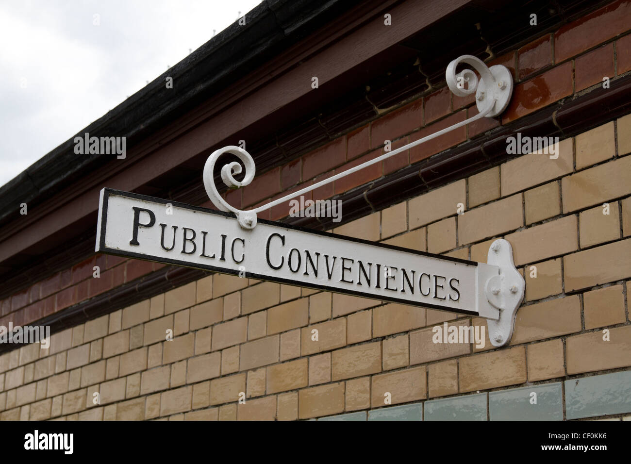 a Victorian public convenience sign in Rothesay, Scotland - Stock Image