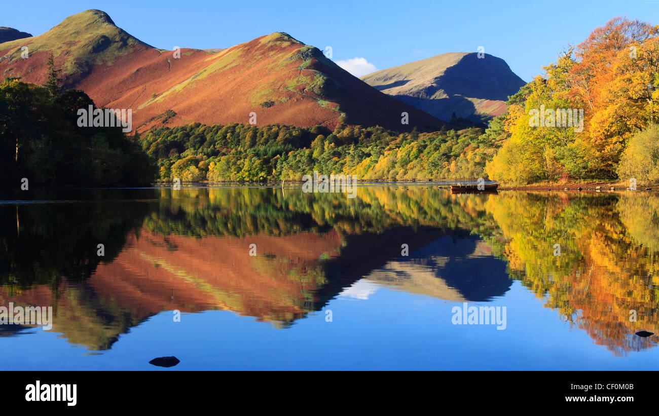 Catbells and Derwentwater, Lake District, Cumbria, England, Europe - Stock Image