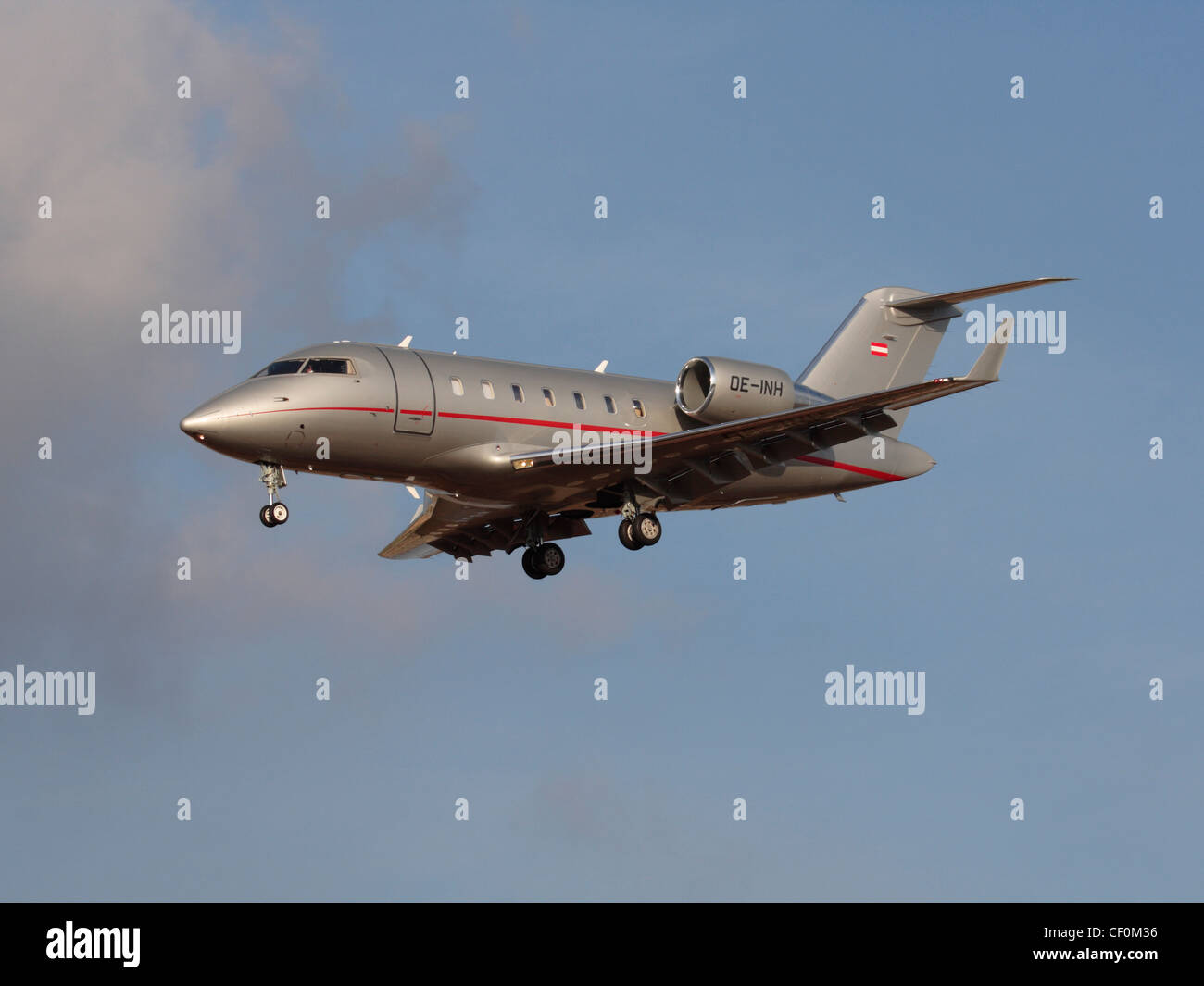 Bombardier Challenger 605 business jet operated by VistaJet - Stock Image