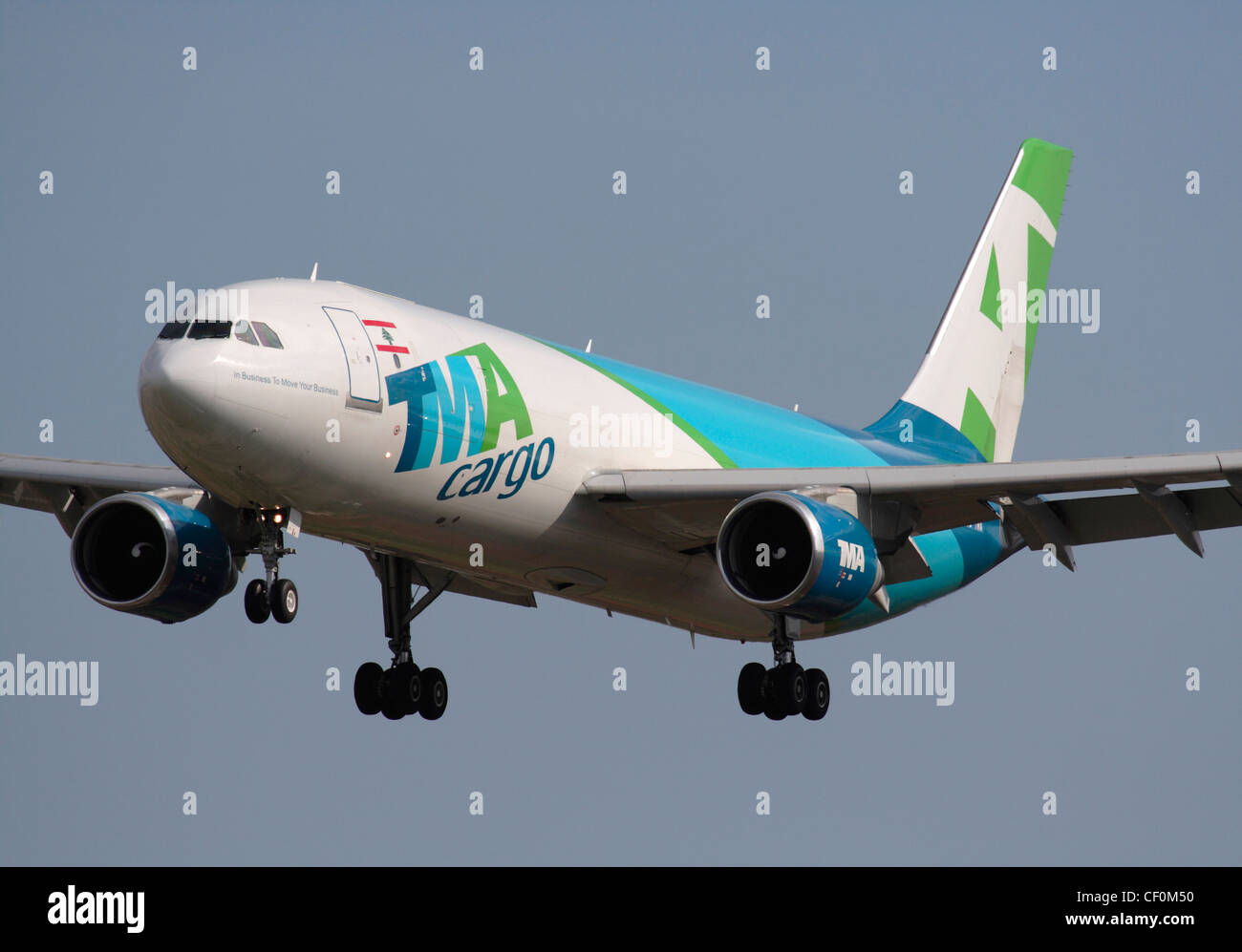 TMA Cargo Airbus A300-600F on final approach - Stock Image