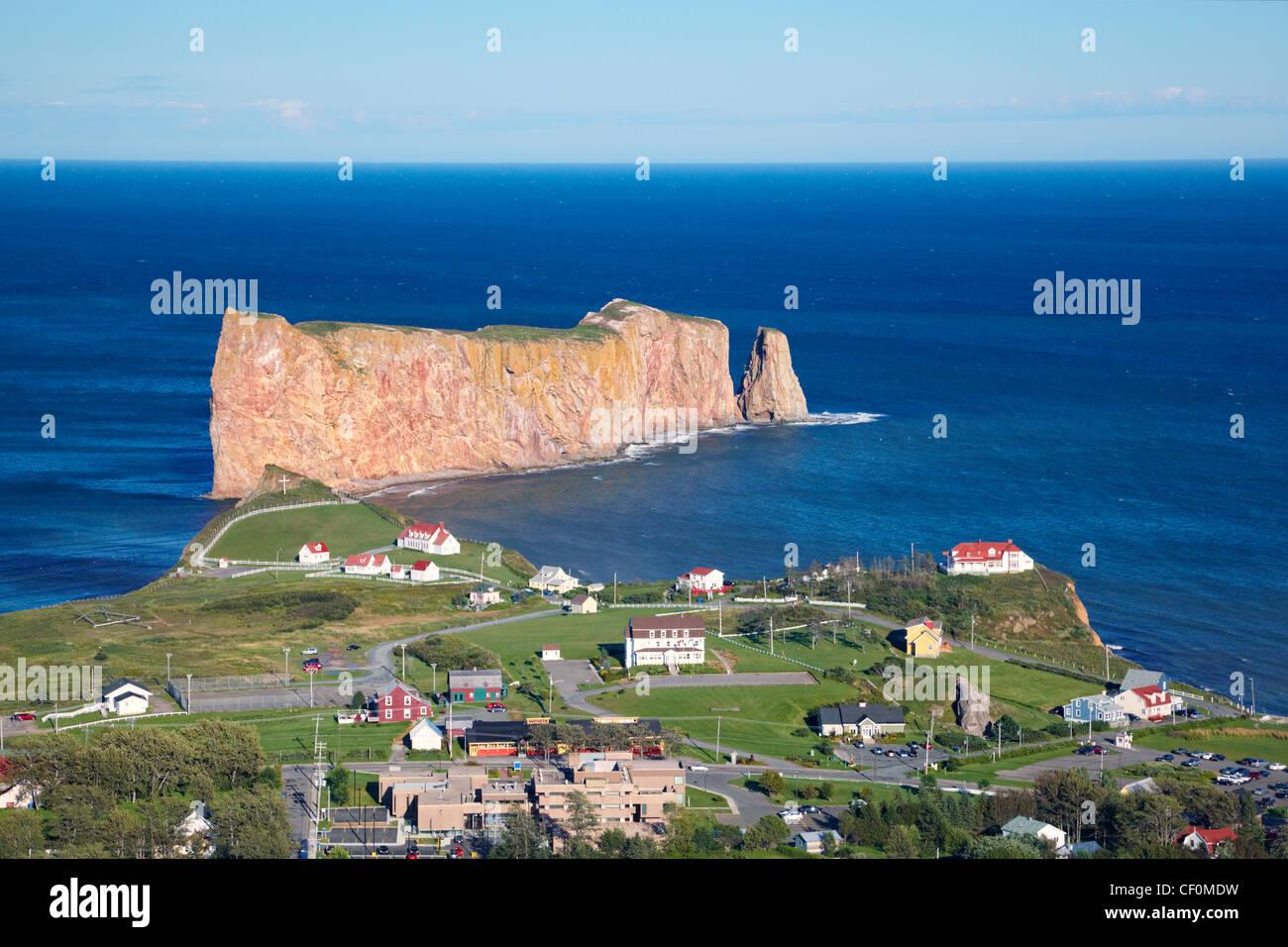 Perce Rock, Perce, Gaspe, Quebec, Canada - Stock Image