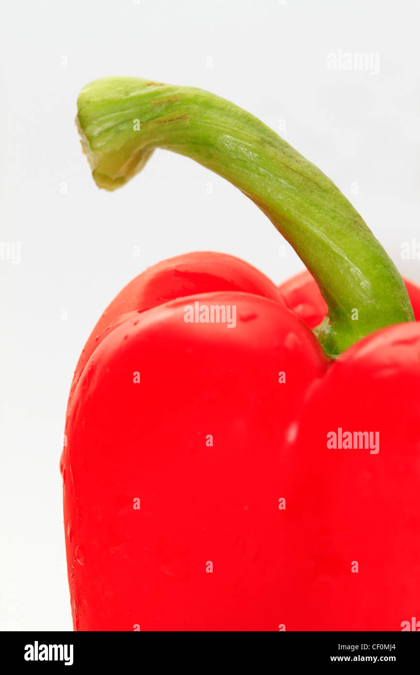 Red Pepper Detail - Stock Image