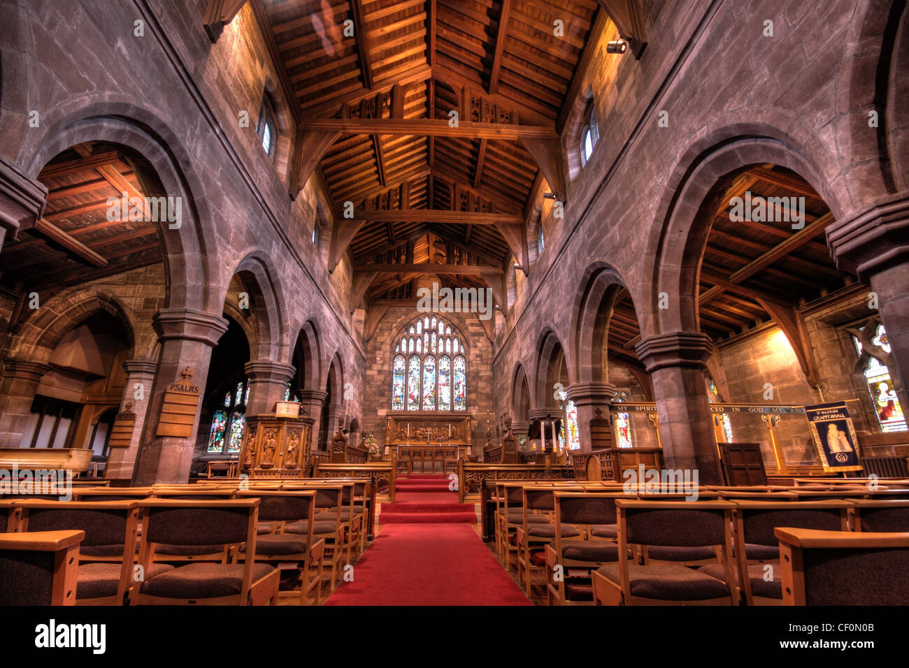 St Wilfrids Church Interior Grappenhall Village South