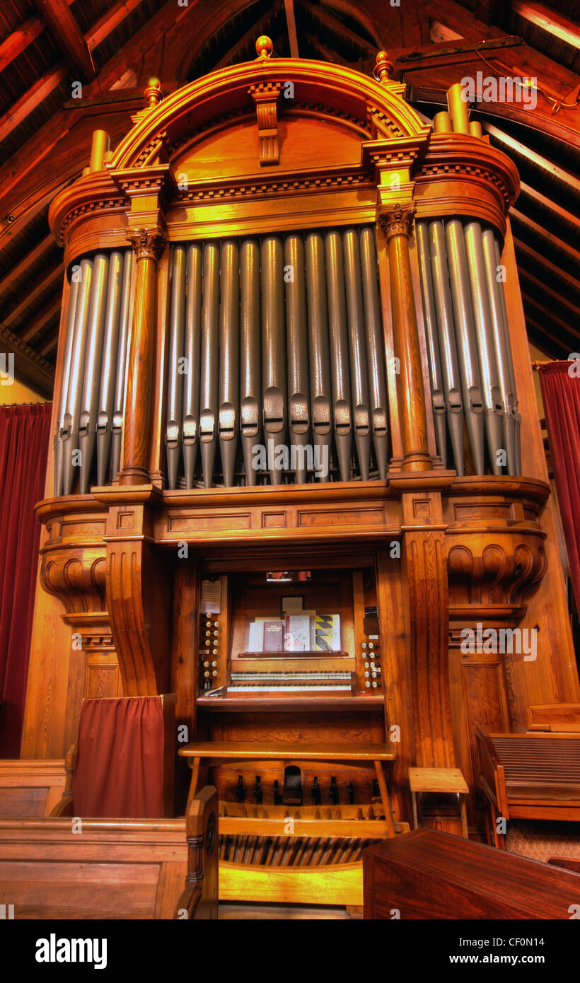 St Wilfrids, Davenham Organ, Near Northwich, Cheshire UK - Stock Image
