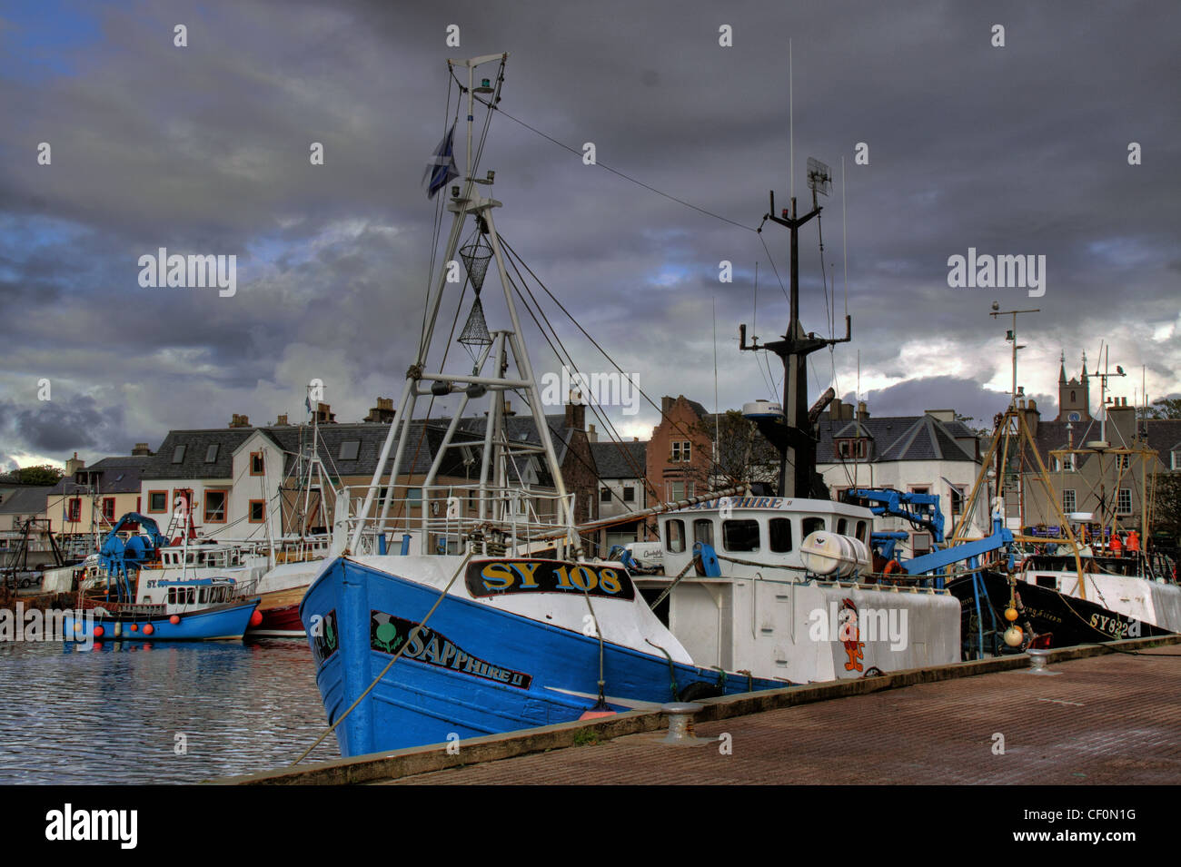 SY108 one of the Stornoway fishing fleet, Outer Hebrides, Scotland, UK - Stock Image