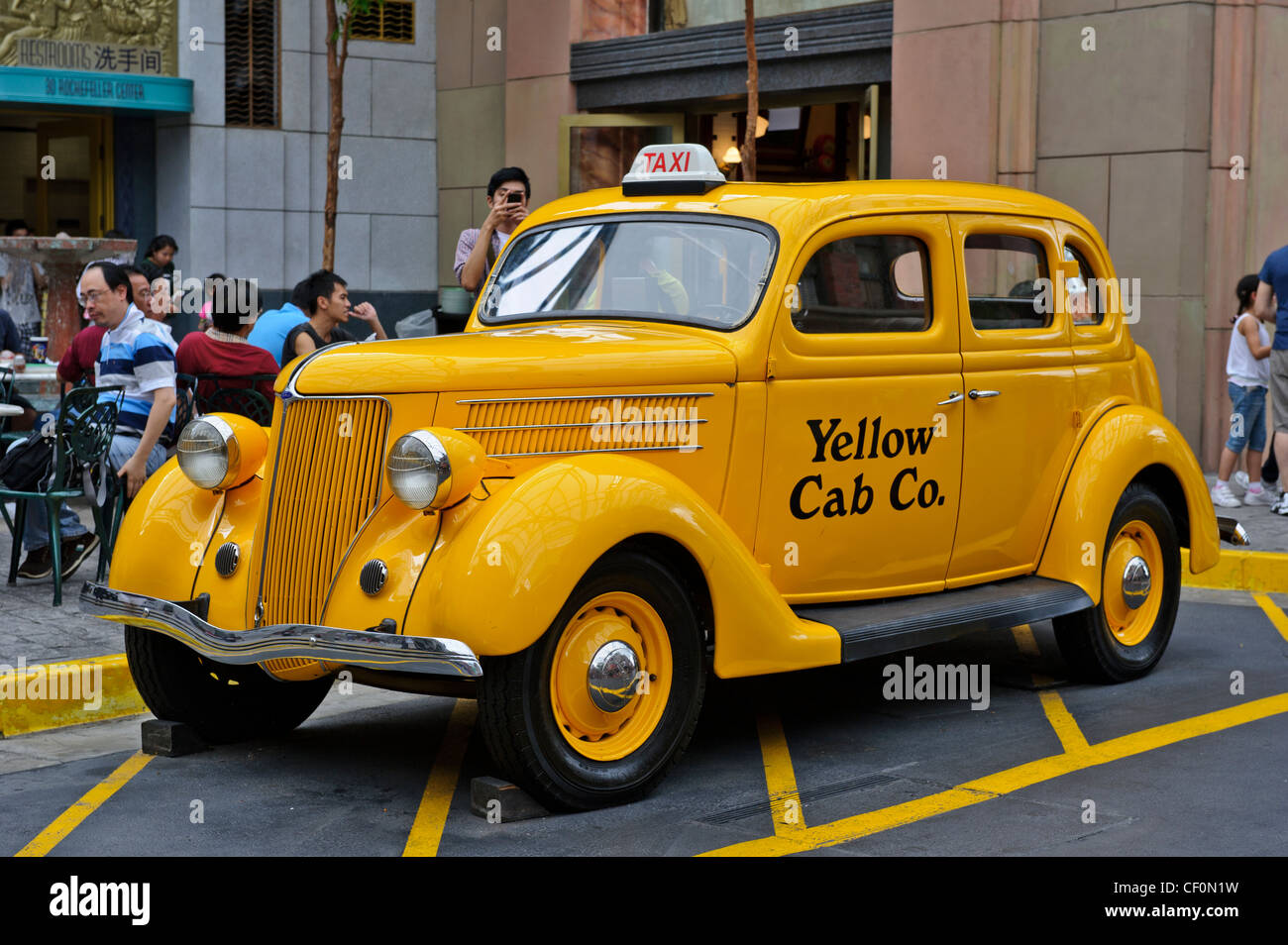 Yellow Cab Company, Universal Studios, Singapore Stock Photo