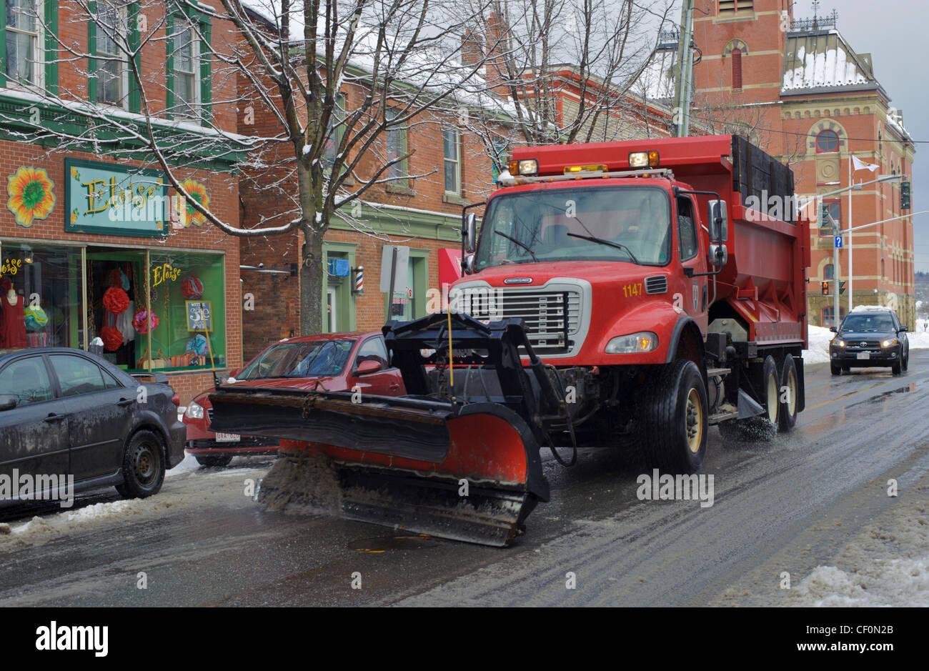 Snow Plow Truck Stock Photos Snow Plow Truck Stock Images Alamy