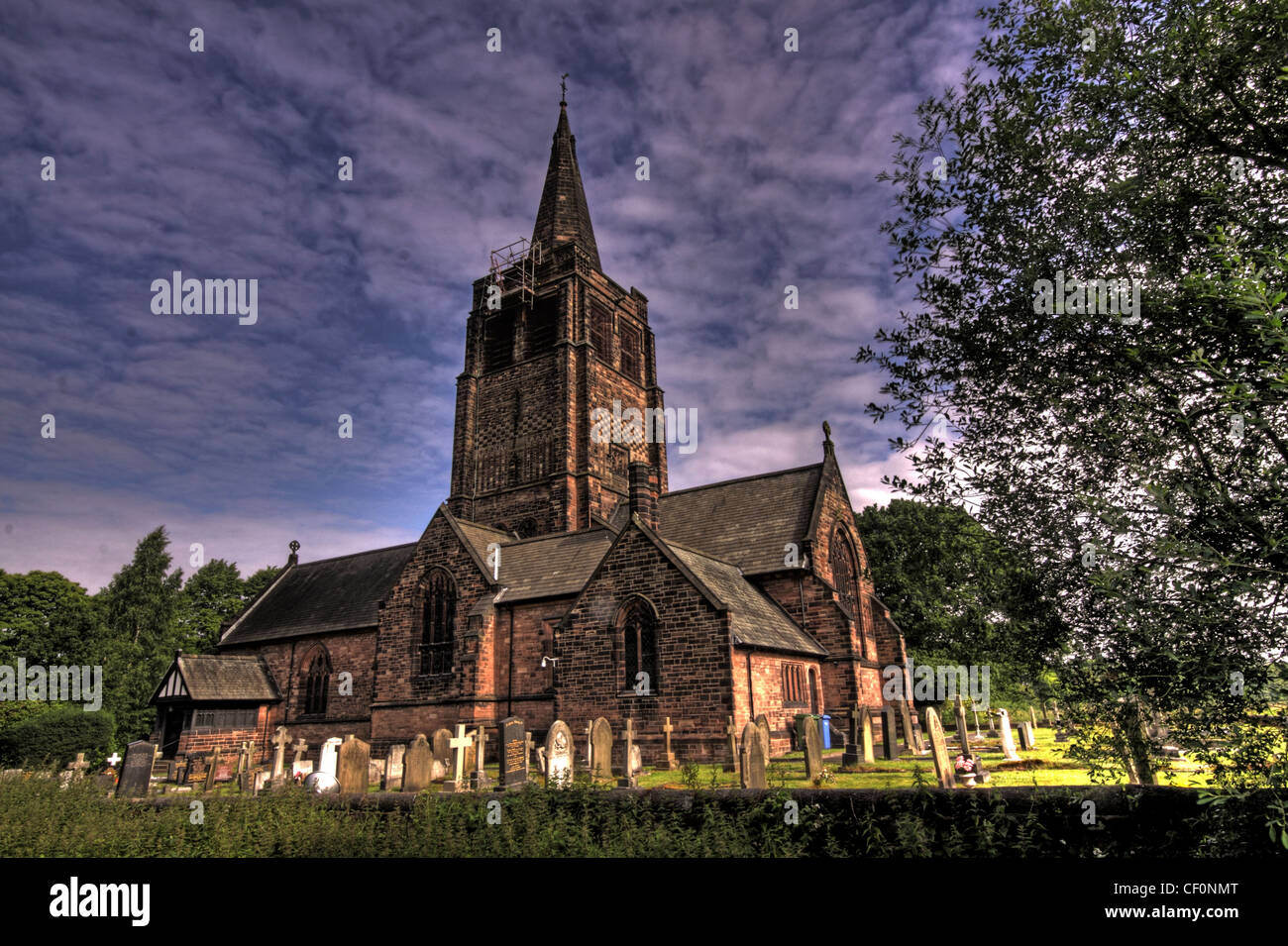 St Johns Church, Walton, Warrington, Cheshire, England, UK - Stock Image