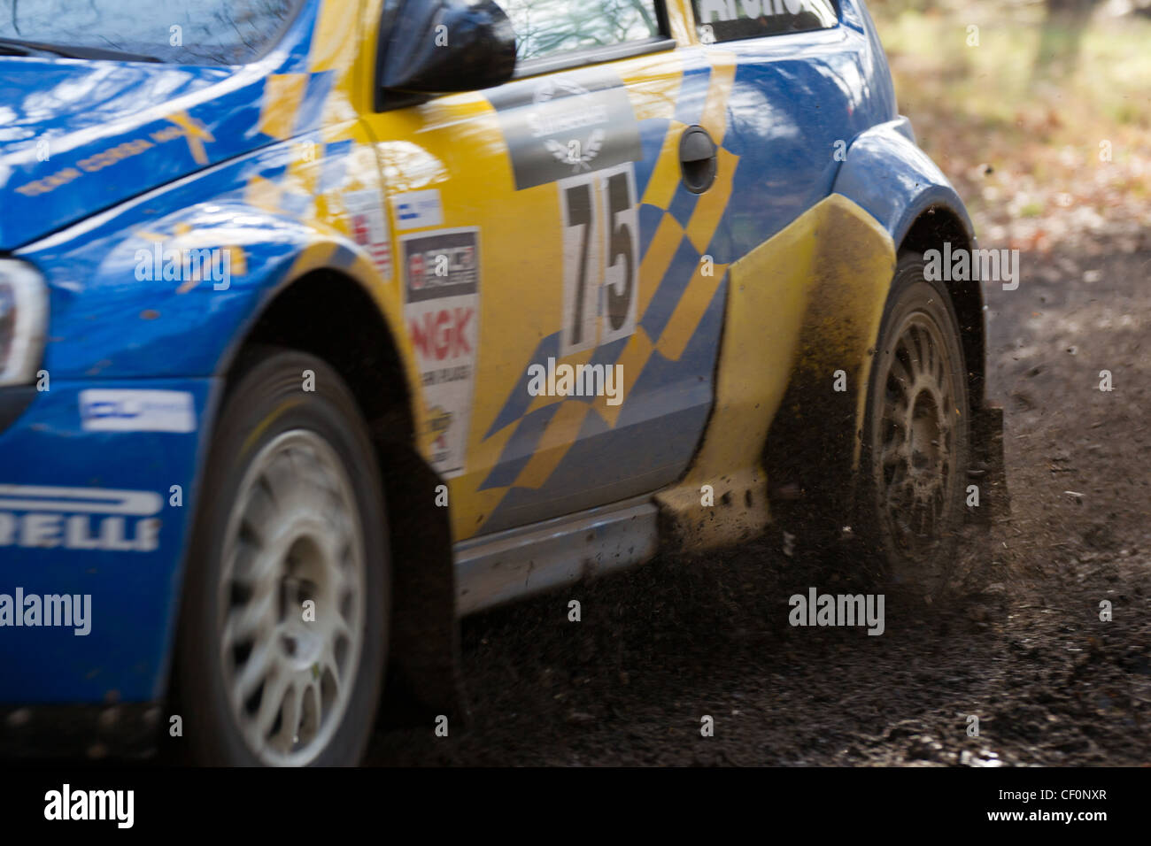 Car At Rallye Sunseeker 2012 - Stock Image