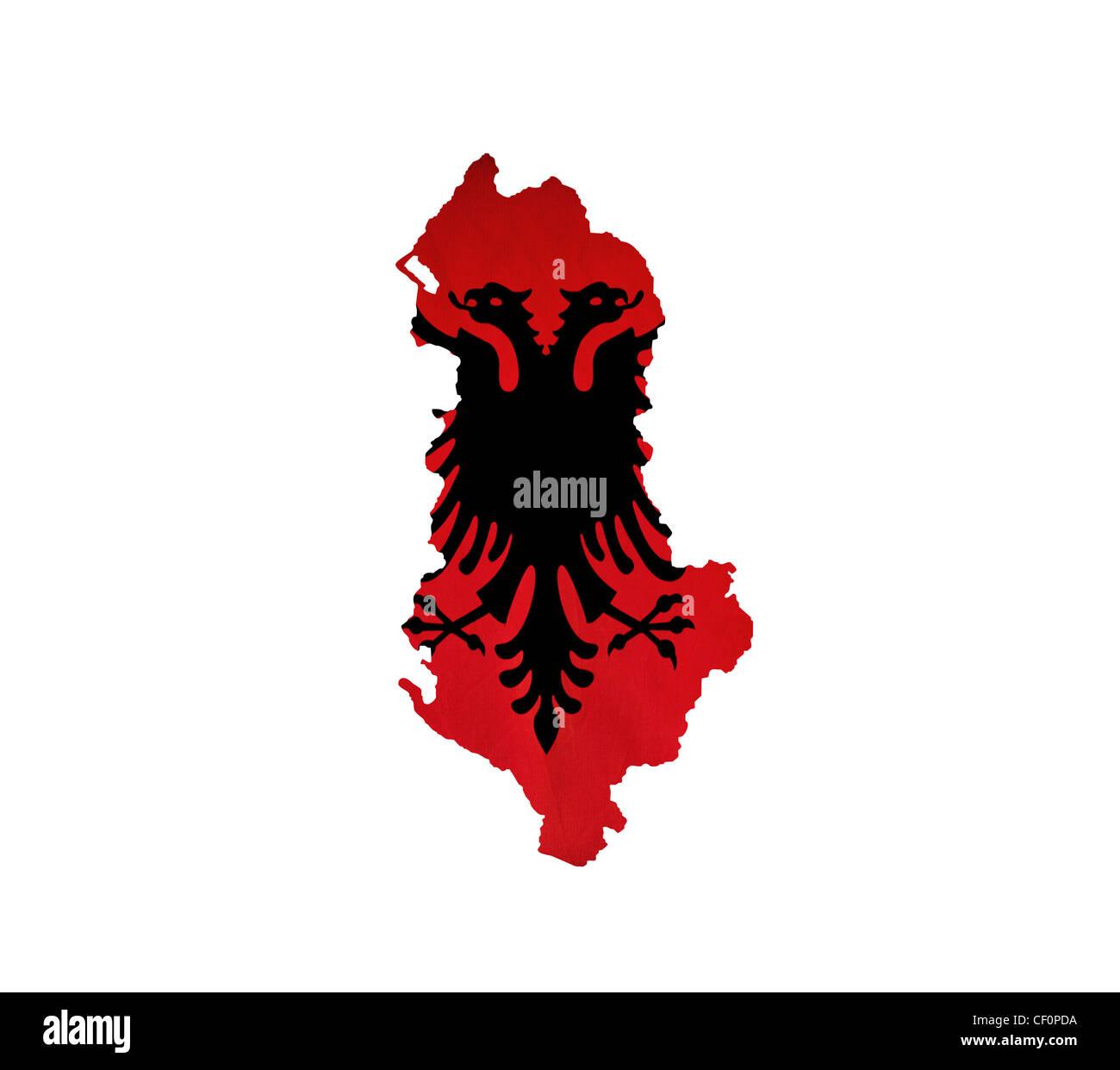 Map of Albania isolated - Stock Image