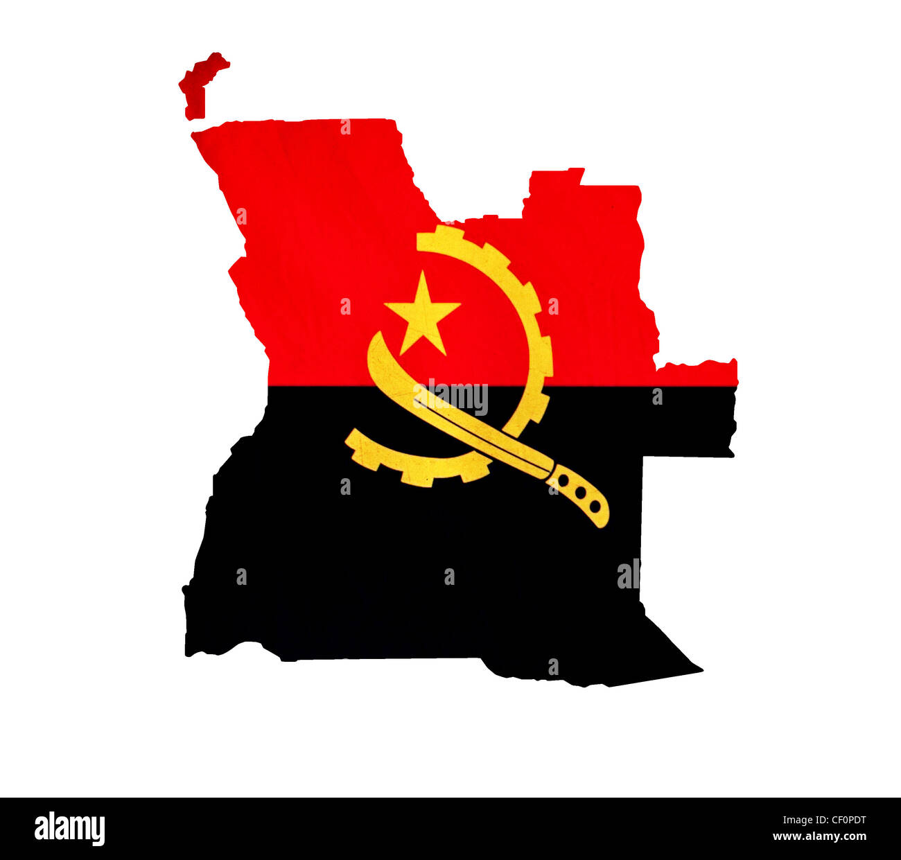 Map of Angola isolated - Stock Image