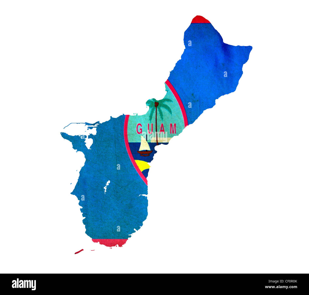Map of Guam isolated Stock Photo: 43658627 - Alamy