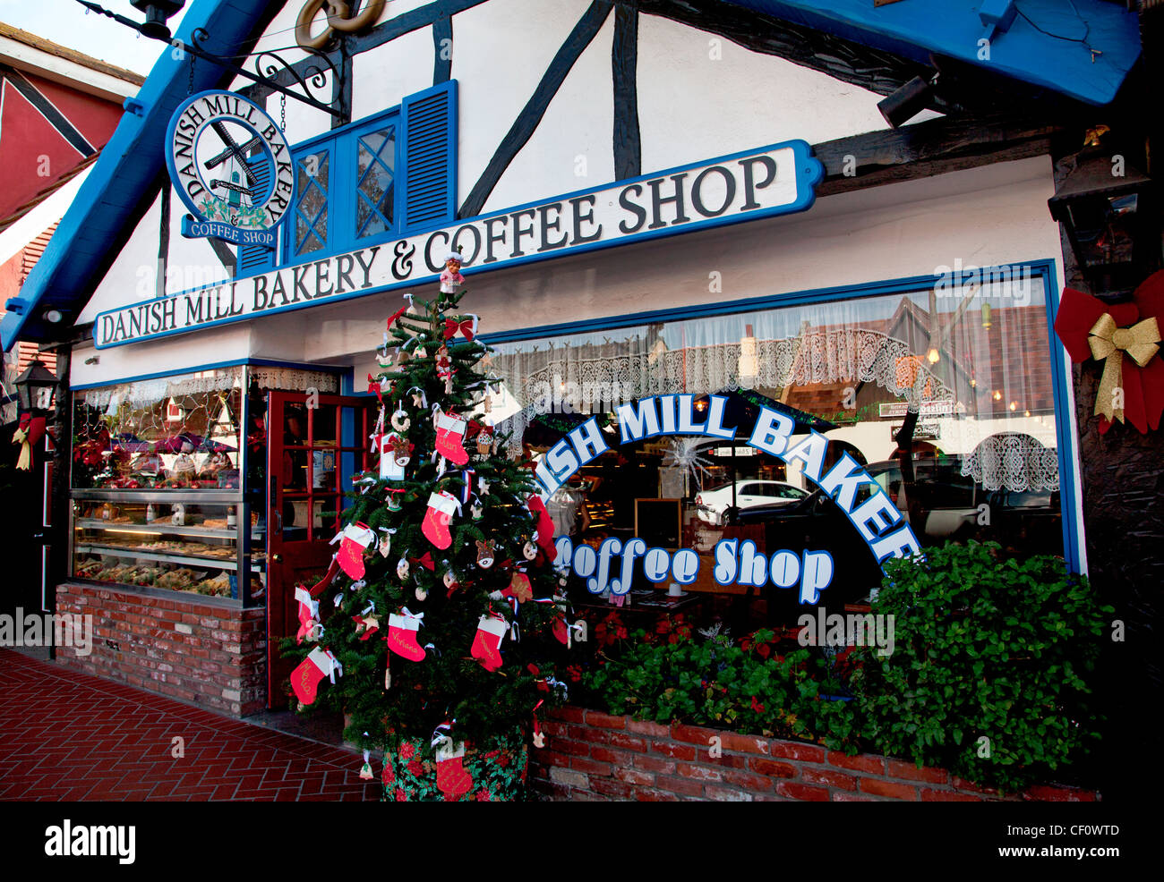 DANISH BAKERY & COFFEE SHOP, SOLVANG,CALIFORNIA, - Stock Image