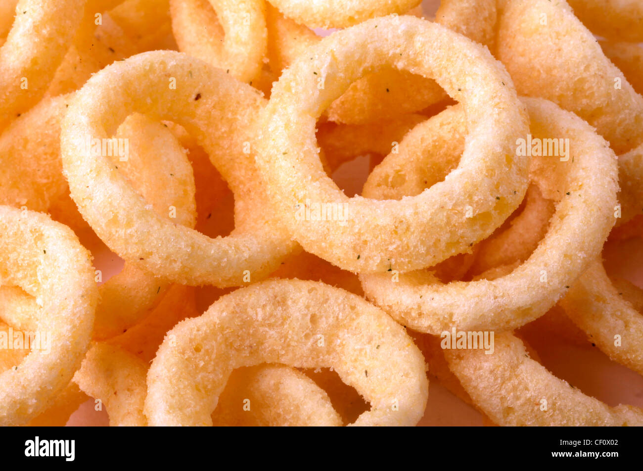 ONION RING SNACKS - Stock Image