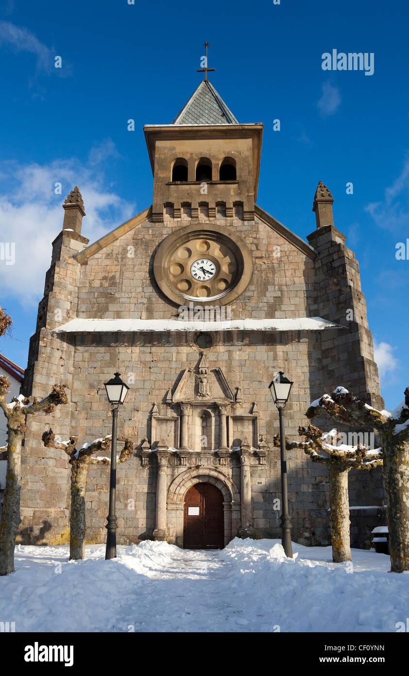 Church of Burguete, Navarra, Spain - Stock Image