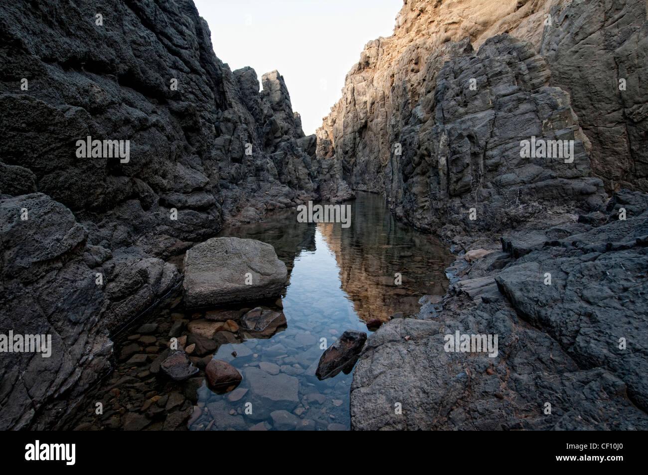 volcanic rocks Fuerteventura - Stock Image