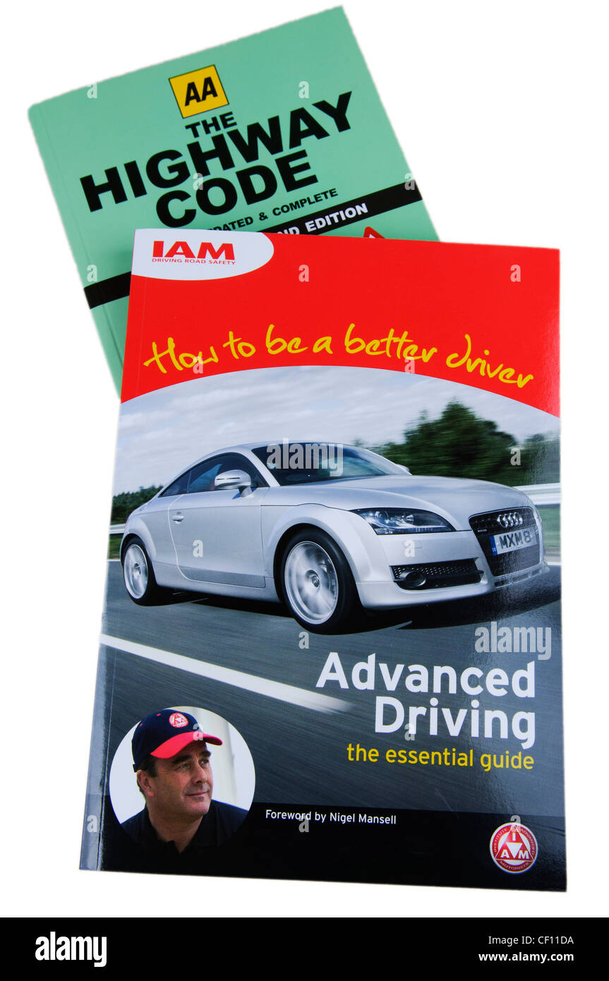 Highway code and the Institute of Advanced Motorists Advanced Driving manual - Stock Image