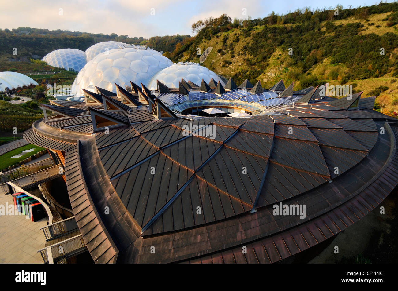 Core and Biomes Eden project - Stock Image