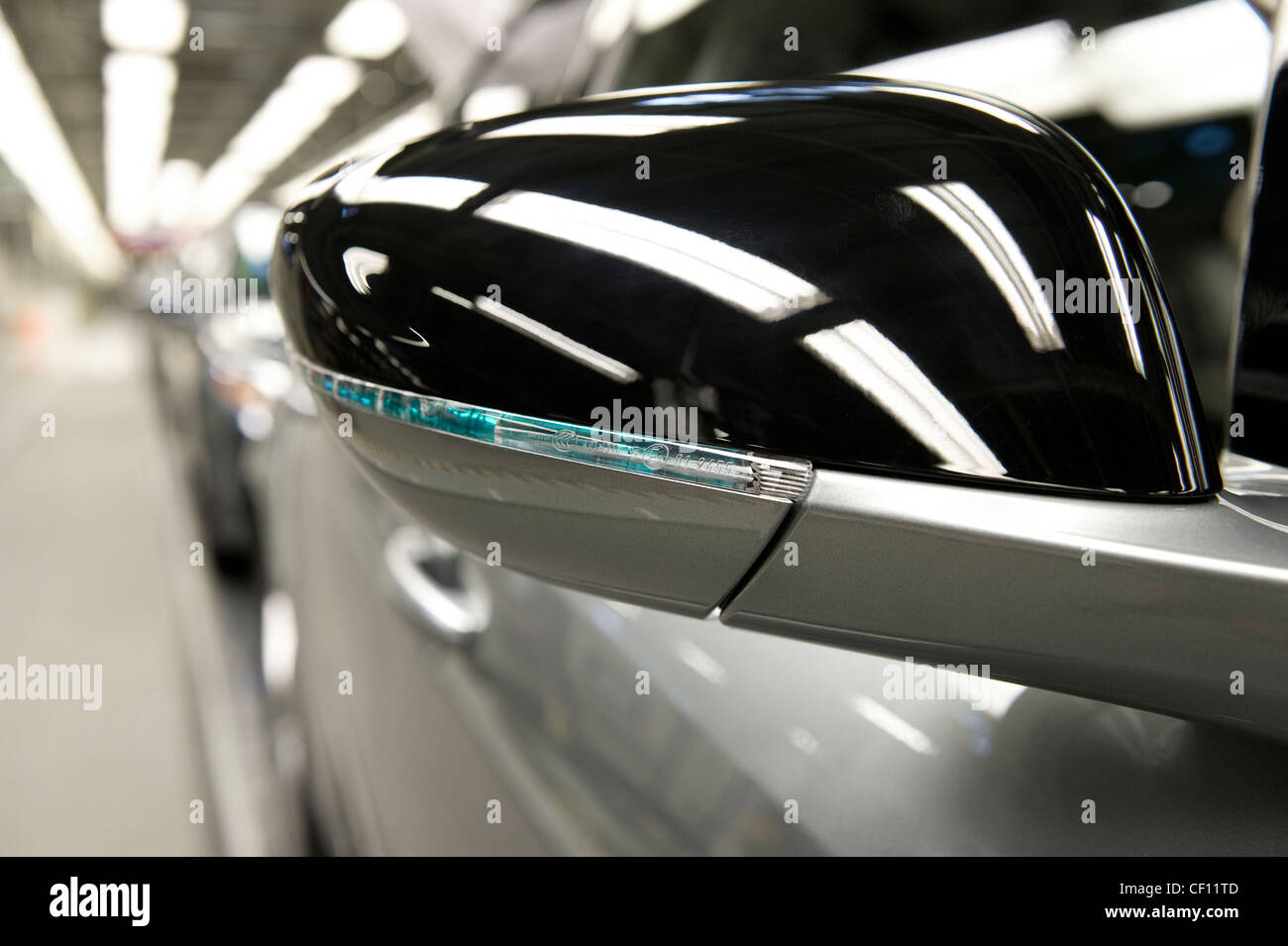 car factory production line - Stock Image