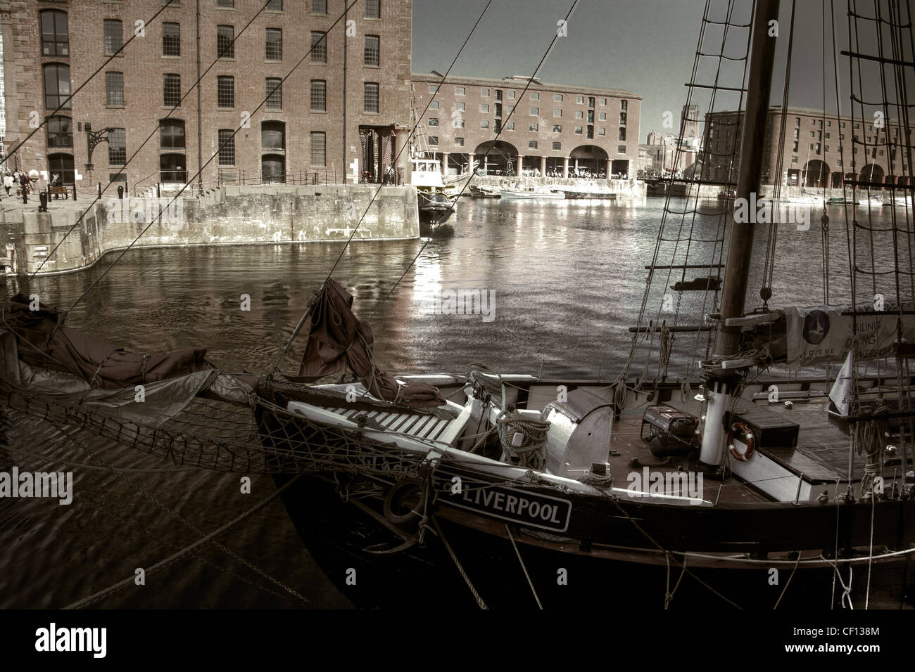 Pride of Liverpool - Ship at Albert dock Liverpool england UK - Stock Image