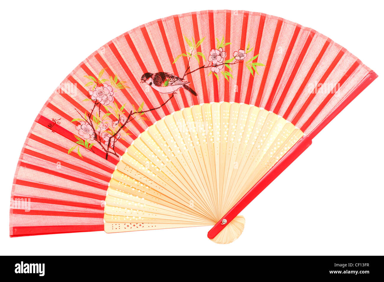Chinese Fan On Red Background Stock Photos & Chinese Fan On Red ...