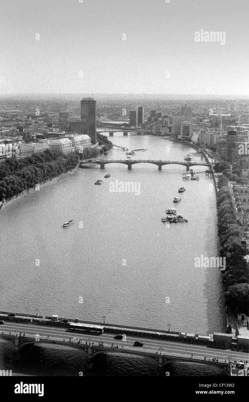 View of the River Thames from the London Eye - Stock Image