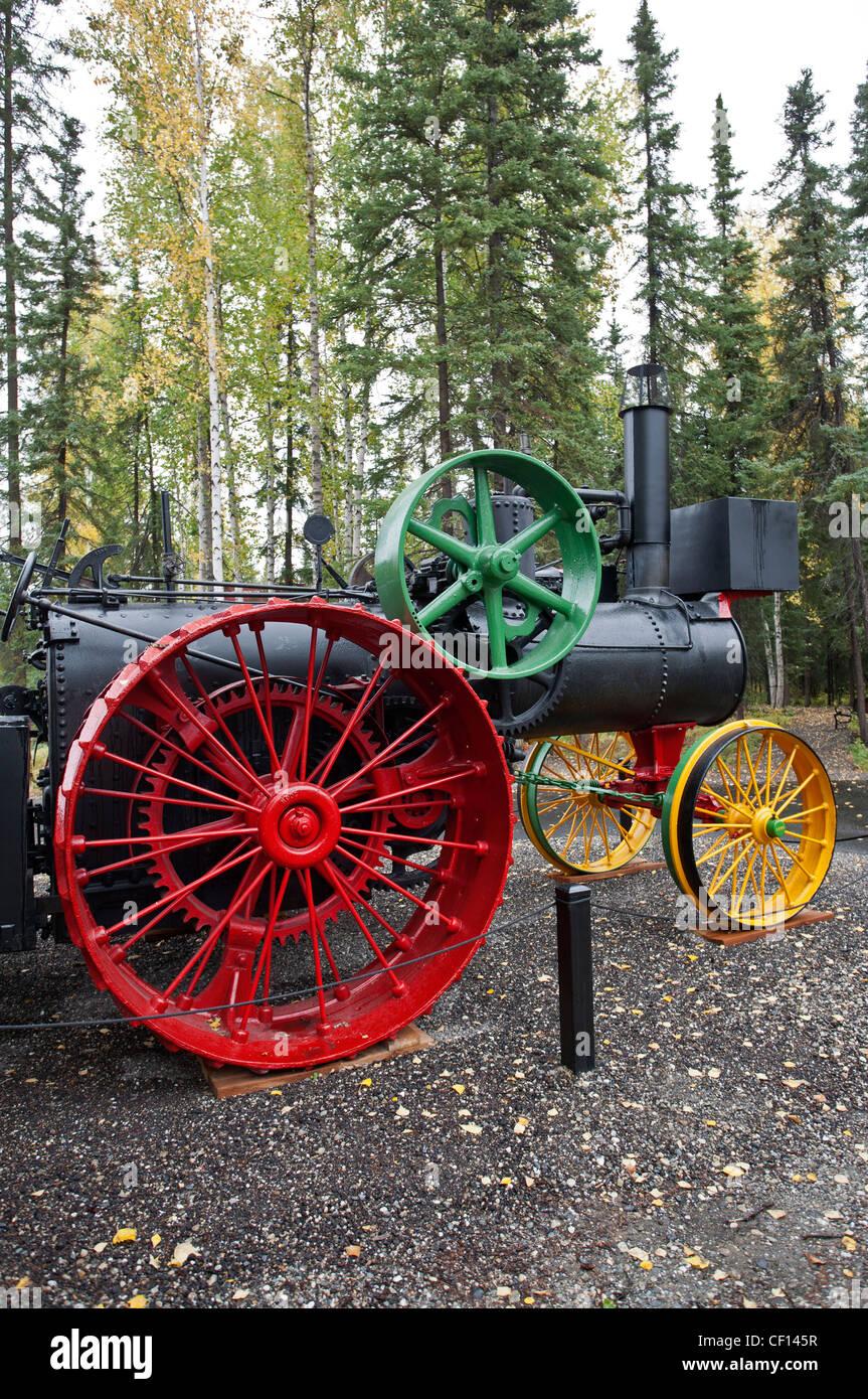 1905 Advance (traction engine). Fountainhead Antique Auto Museum. Wedgewood Resort. Fairbanks. Alaska. USA - Stock Image