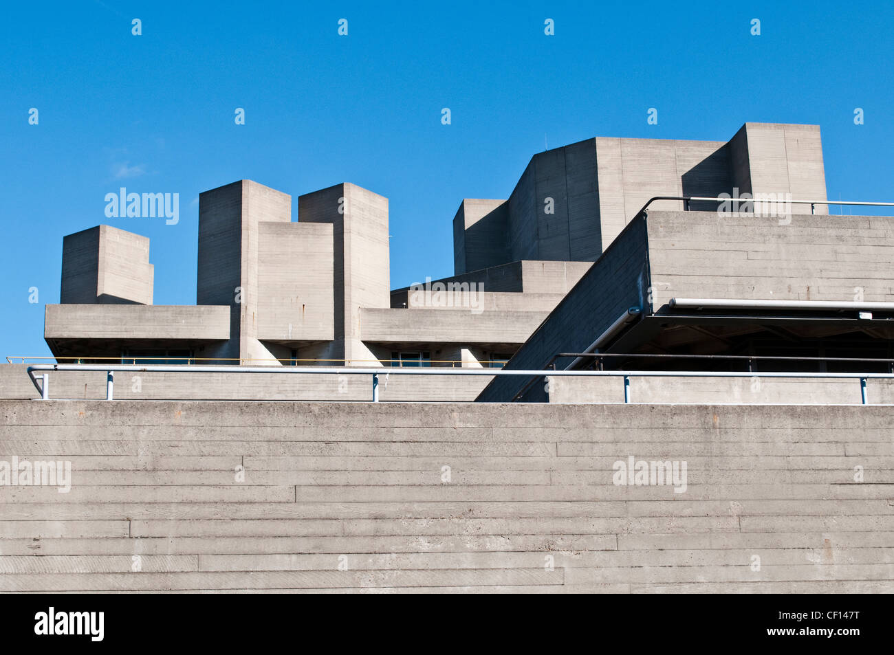 National Theatre, South Bank Centre, London, UK - Stock Image