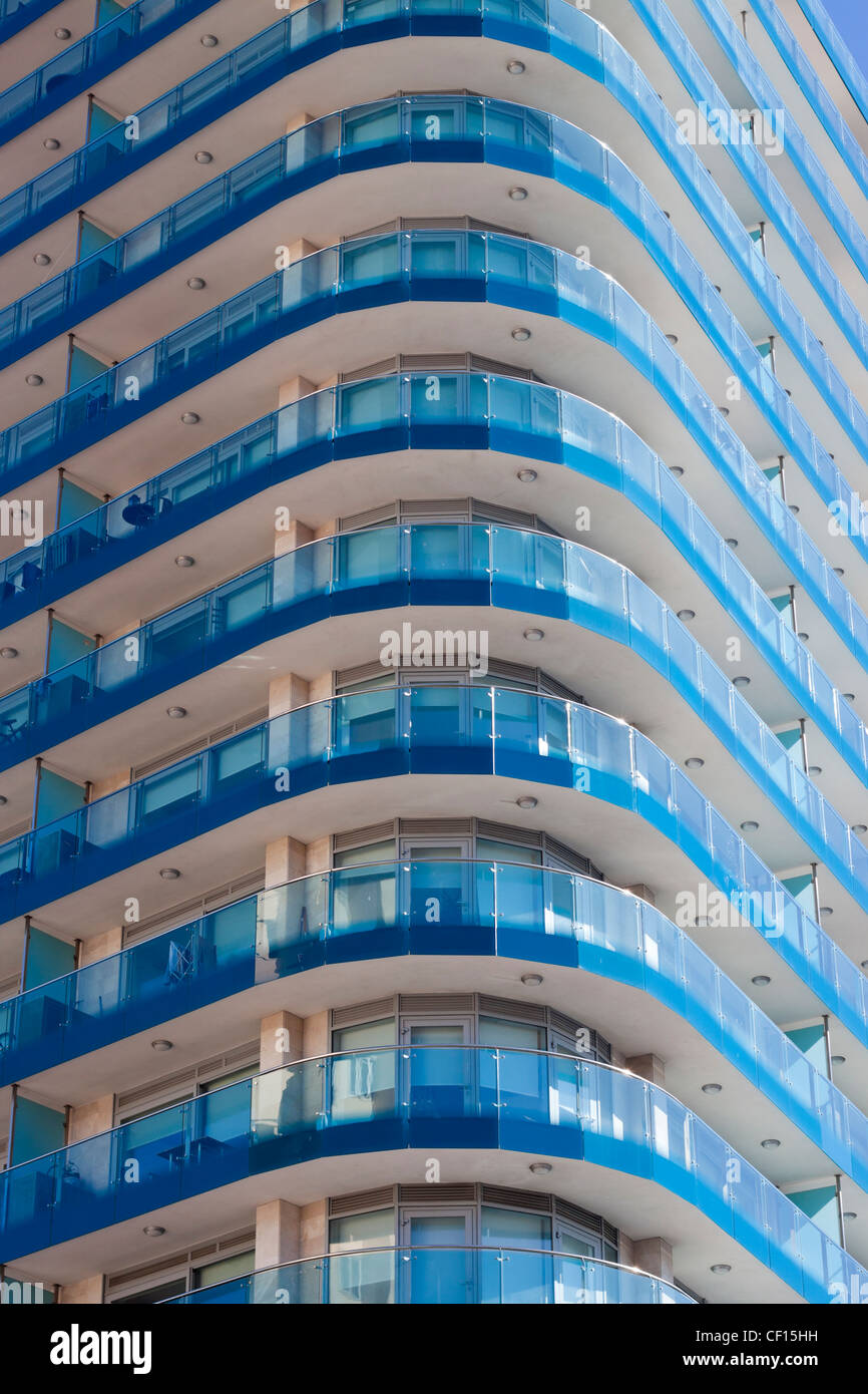 luxury apartments exterior. Exterior of luxury apartments in Ocean Village  Gibraltar Stock Image Luxury Apartments Photos