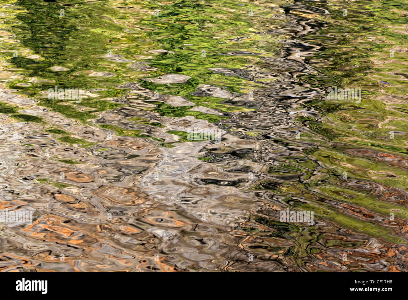 Reflections in water - Stock Image