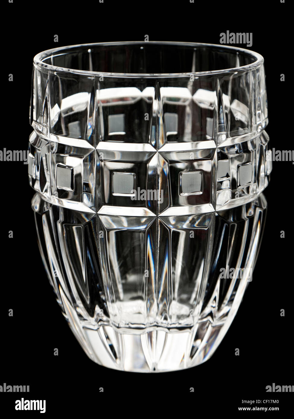 Waterford Lead Crystal 'Marquis' Quadrata whisky glass (2007) - Stock Image