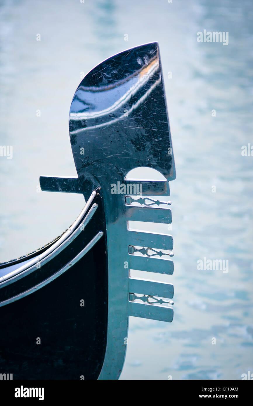 Gondola moored at Bacino Orseolo - Venice, Venezia, Italy, Europe - Stock Image