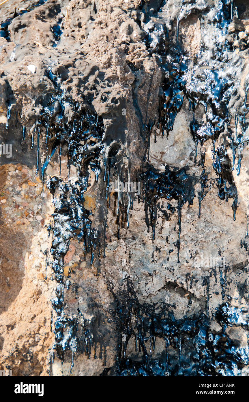 drips tar oil dripping ooze - Stock Image