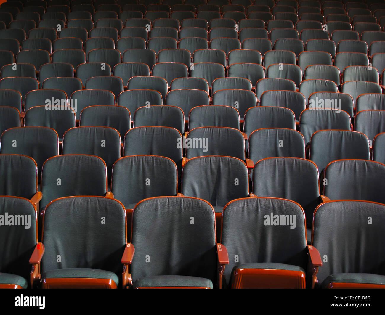 empty theater seats - Stock Image