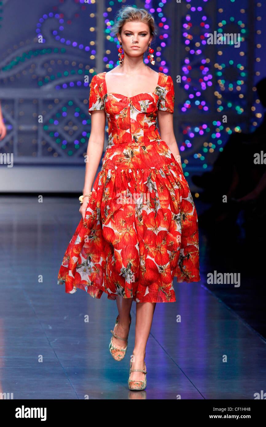 Dolce & Gabbana Milan Ready to WearSpringSummer 2012 - Stock Image