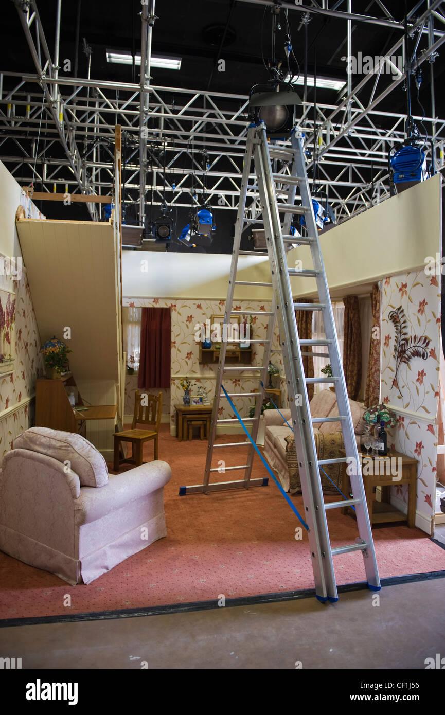 BBC Wales Pobol y Cwm Welsh language television drama film set