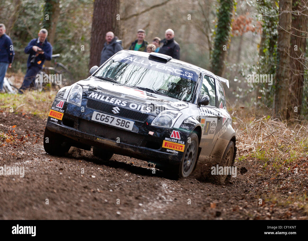 Callum Black in a ex works Suzuki Swift S1600 at the Rally