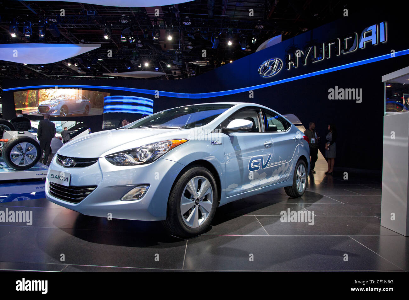 Hyundai Elantra plug-in electric car - Stock Image