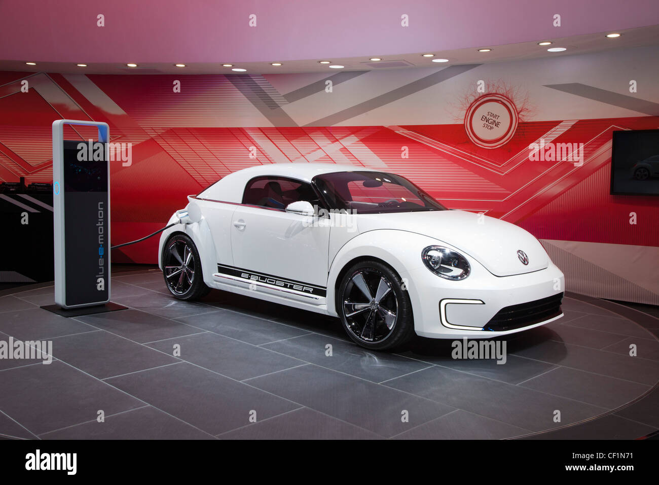 Volkswagen e-Bugster concept plug-in electric vehicle - Stock Image