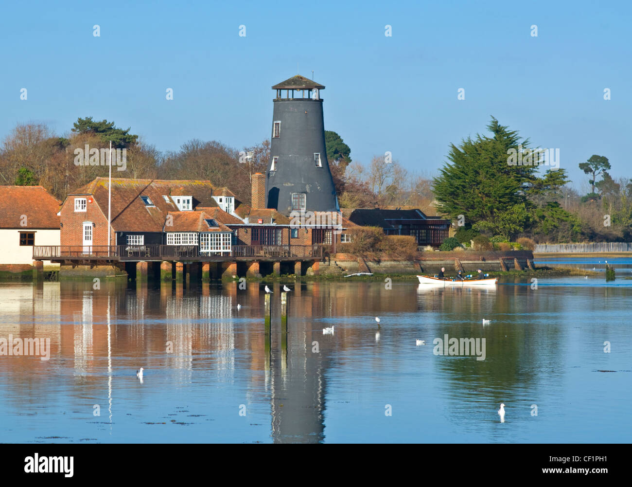 the old mill  langstone  chichester harbour  hampshire  uk stock photo  43680253