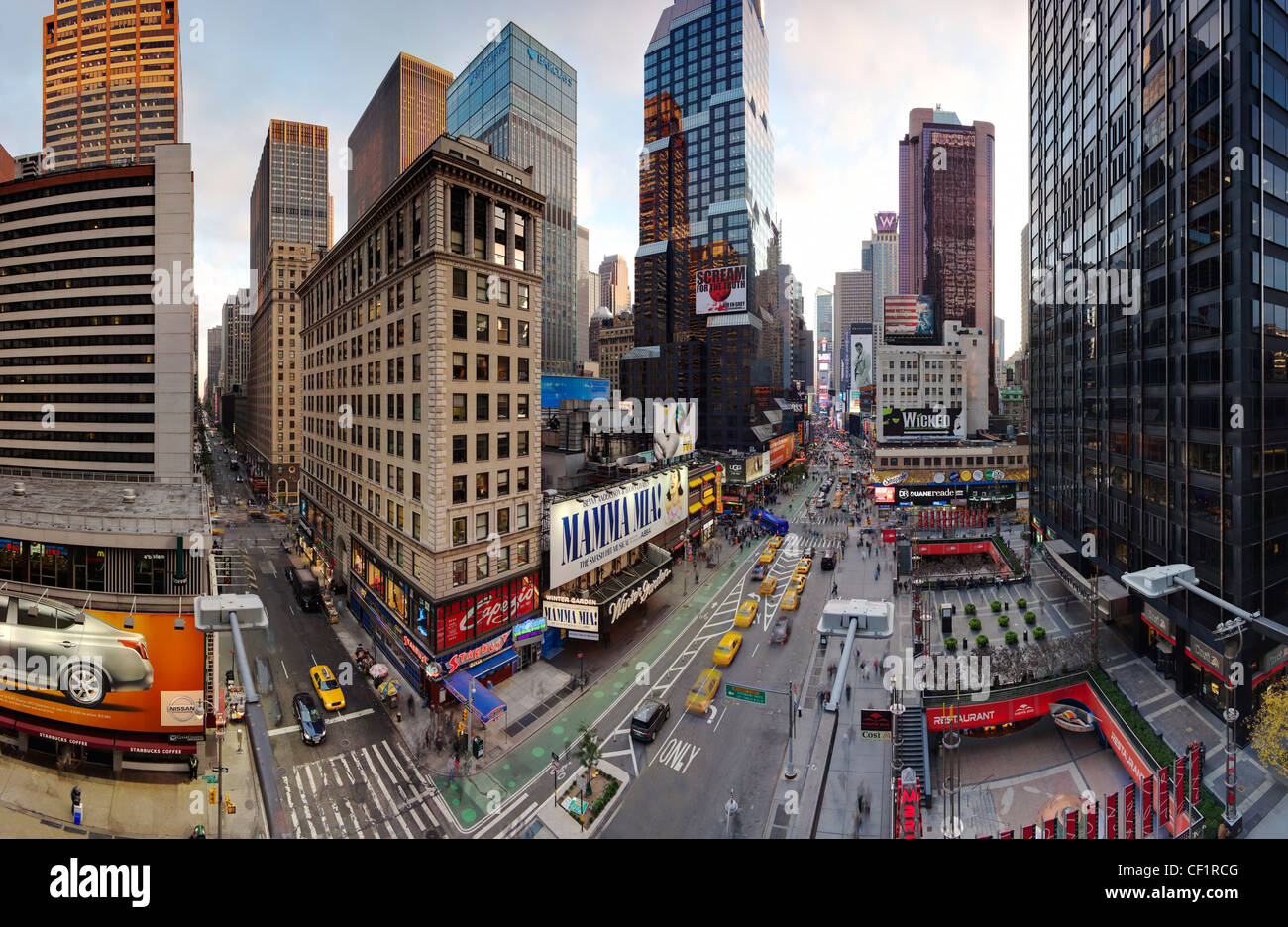 Manhattan, Broadway looking towards Times Square, New York, United States of America - Stock Image