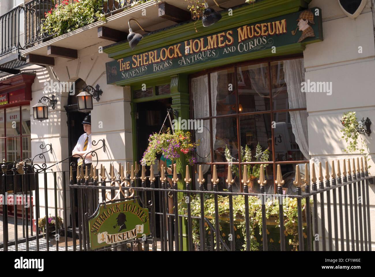 The Sherlock Holmes museum in Baker Street  221b Baker
