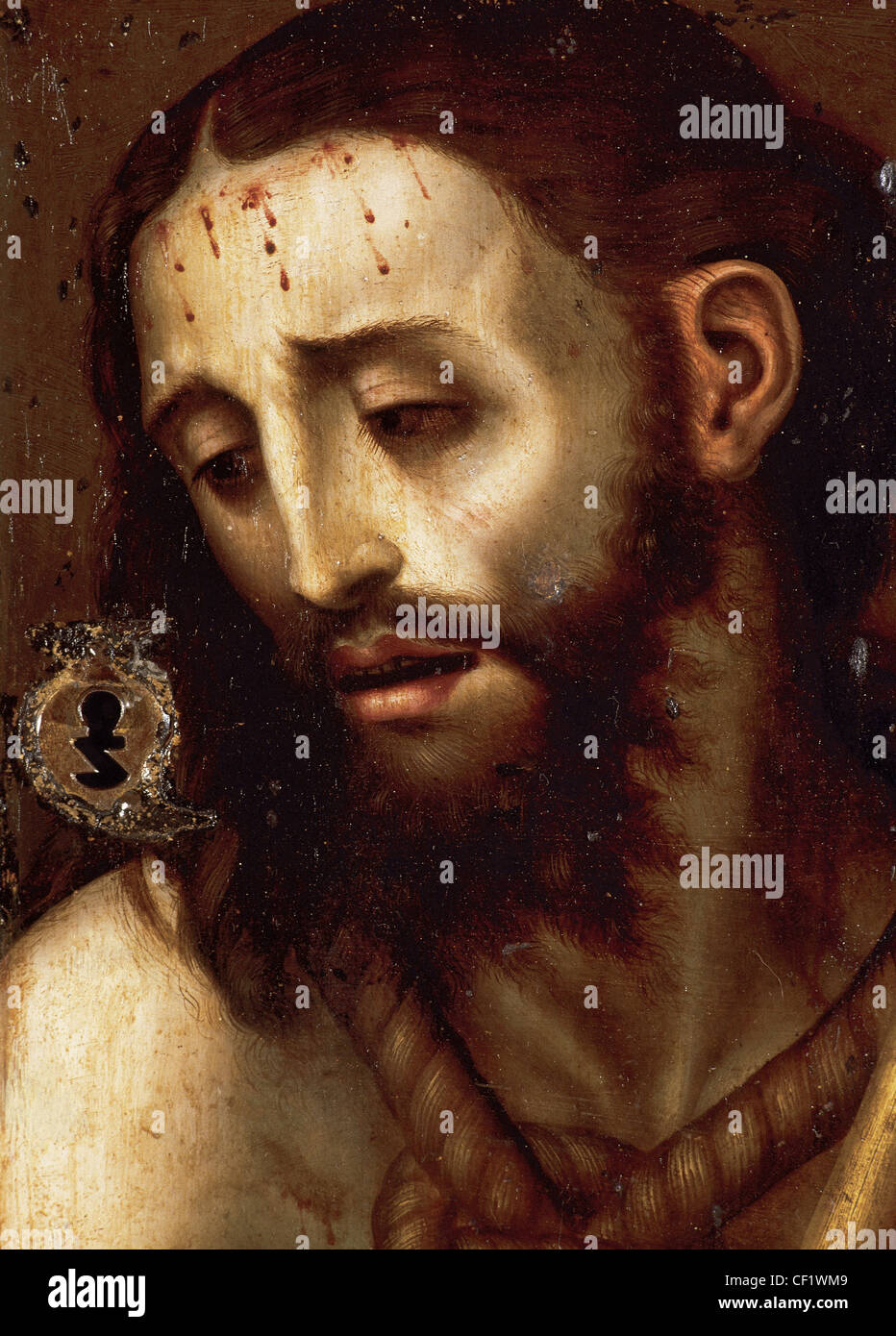 Luis de Morales, the Divine (c. 1510-1586). Spanish painter. Ecce Homo. - Stock Image