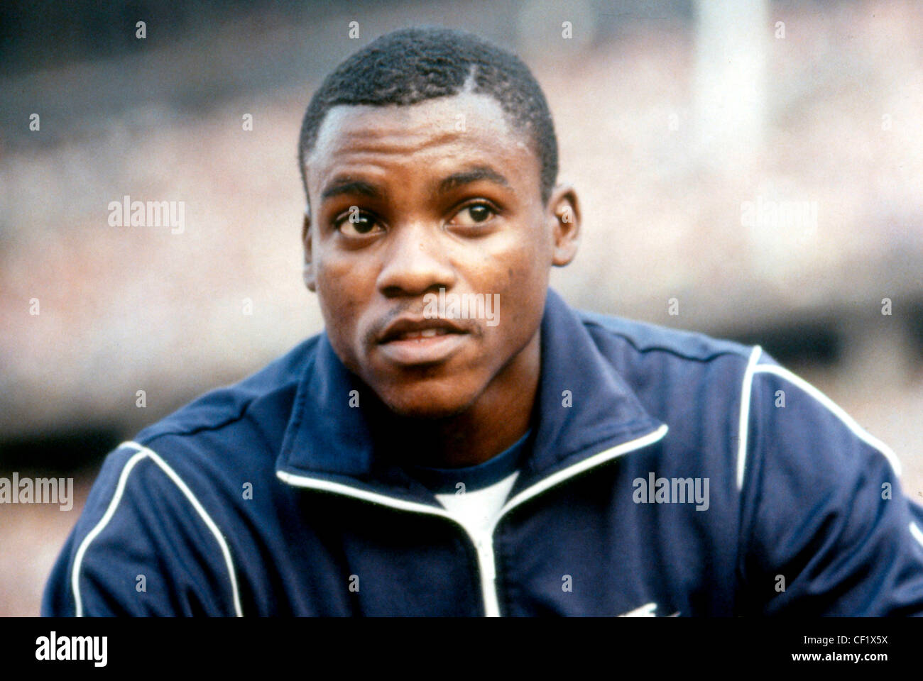 Carl Lewis - *01.07.1961: American athlete, Olympic champion, sprinter and long-jumper. Portrait at the Istaf in - Stock Image