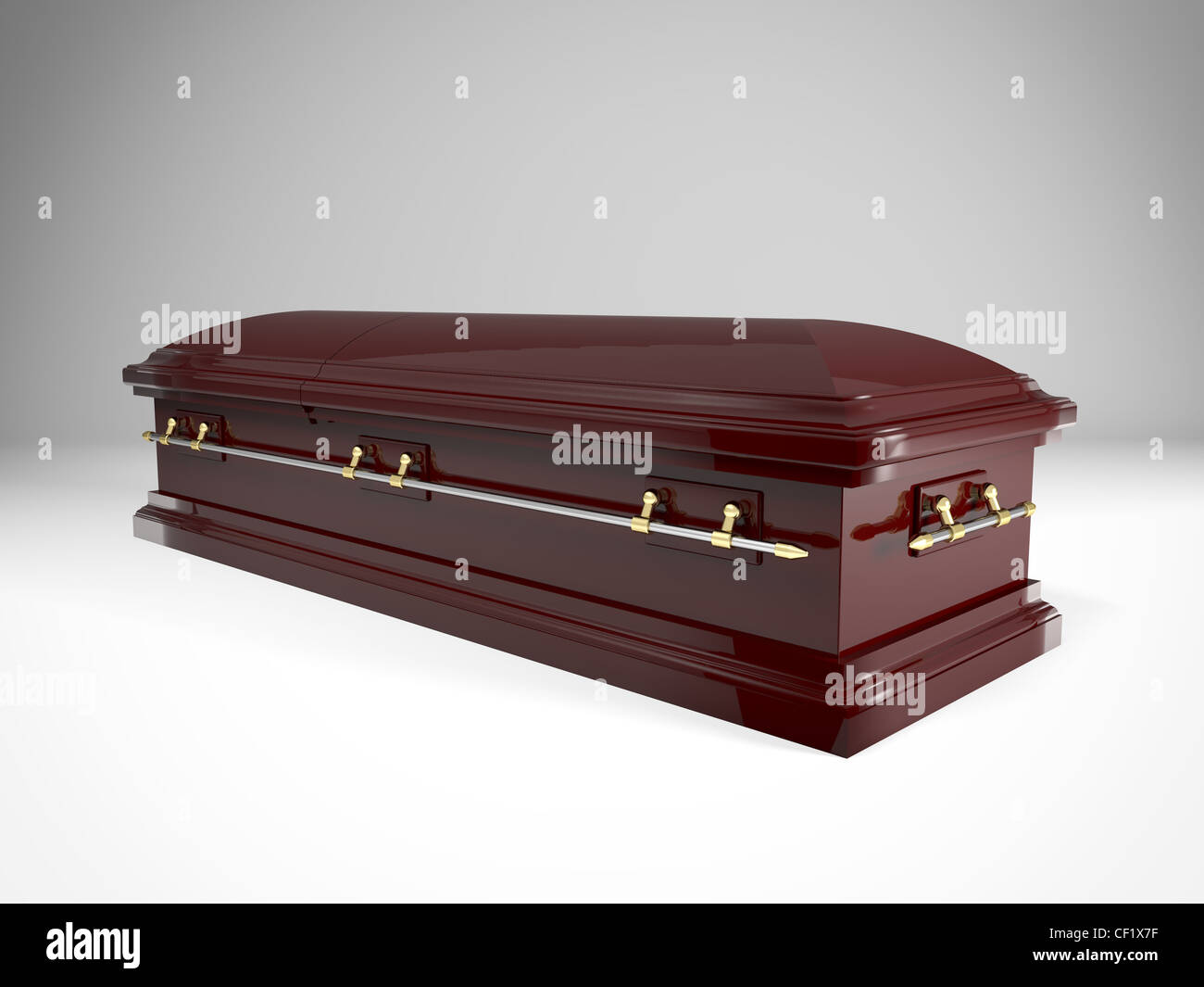3d image of classic coffin - Stock Image