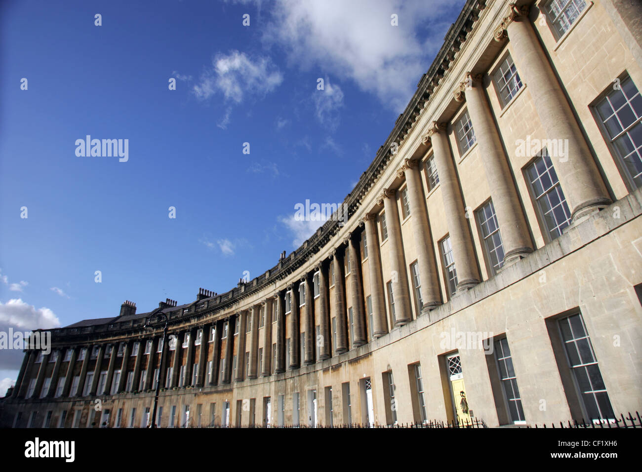 The Royal Crescent in Bath. - Stock Image